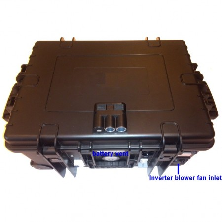 LES Lithium Energy Supply, portable module 230VAC/1.2kW, 13.3V/100Ah/1kWh in outdoor case