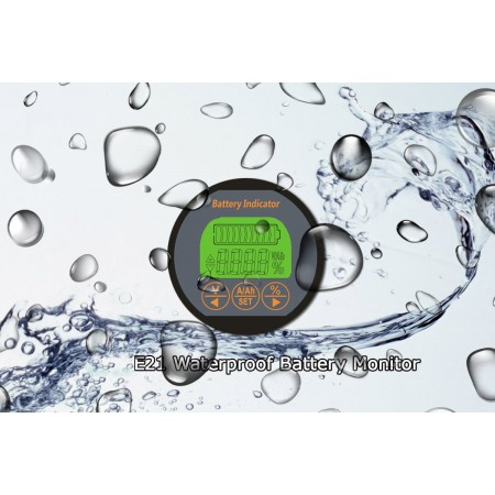 Splashed Waterproof Battery Monitor